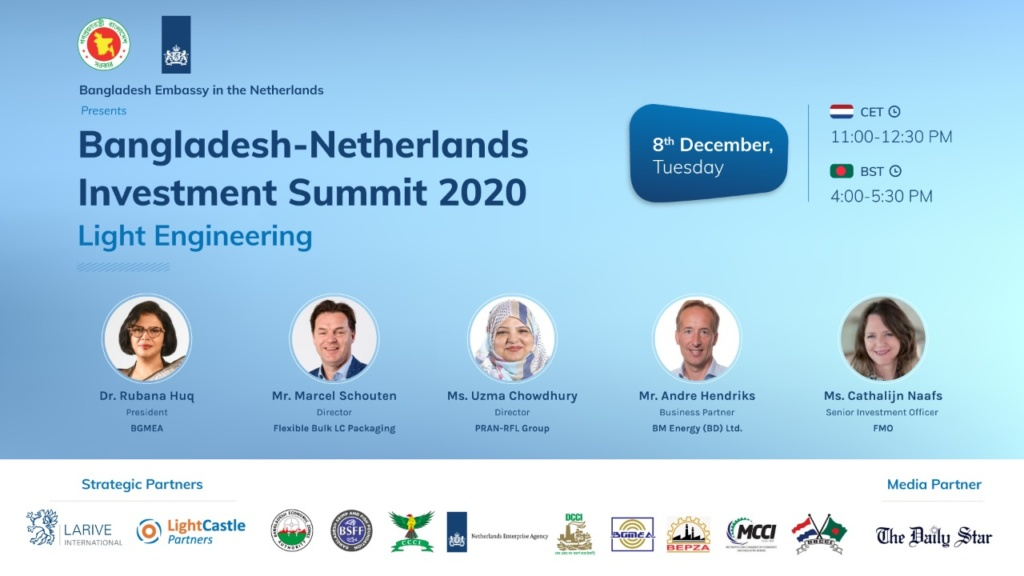 Bangladesh-Netherlands Investment Summit 2020